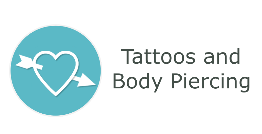 Tattoo and Piercings - information related to donations