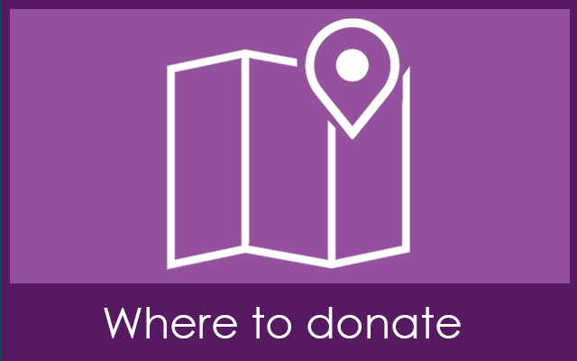 Where to donate - upcoming session times and locations