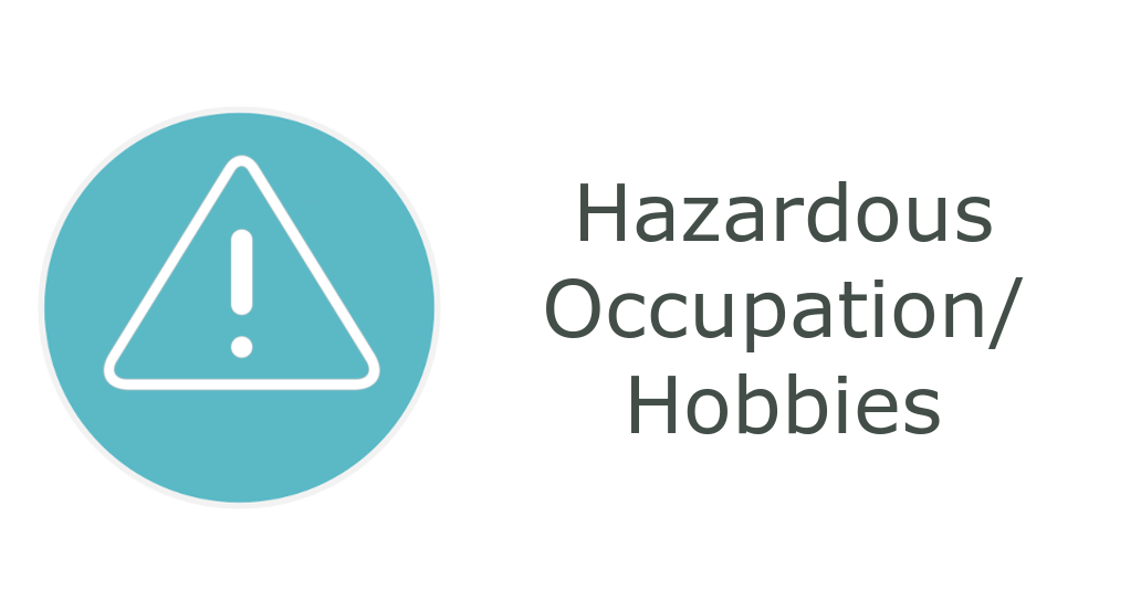 Hazardous Occupations or Hobbies - information related to donations